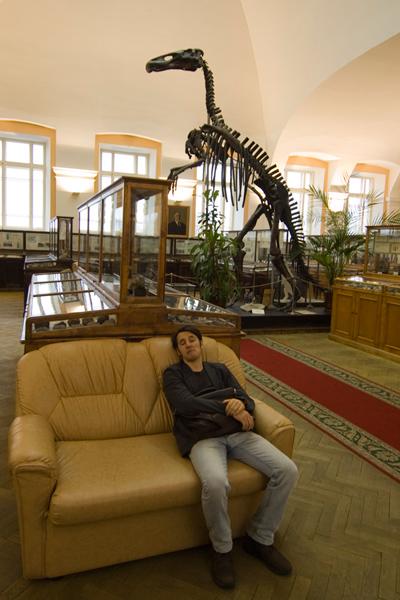 керк спит в геологическом музее