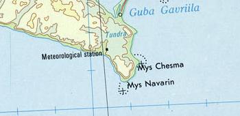 мыс наварин карта топографическая