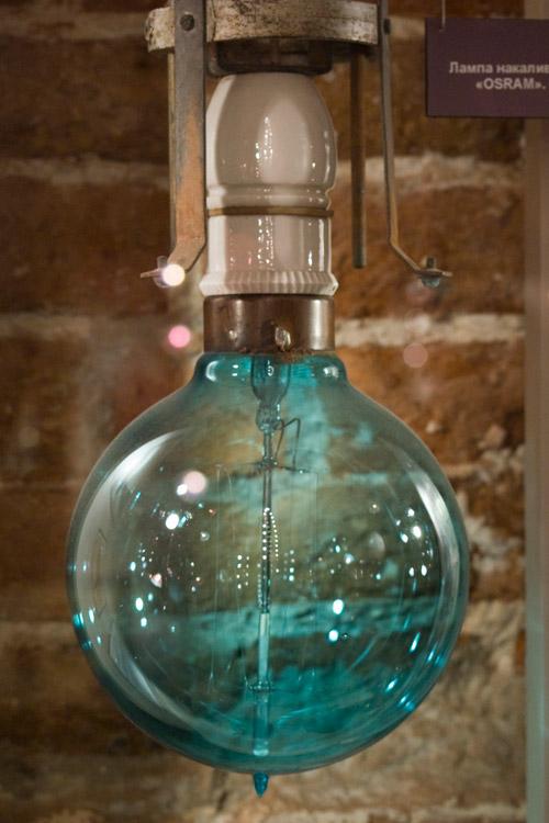 лампа накаливания музей
