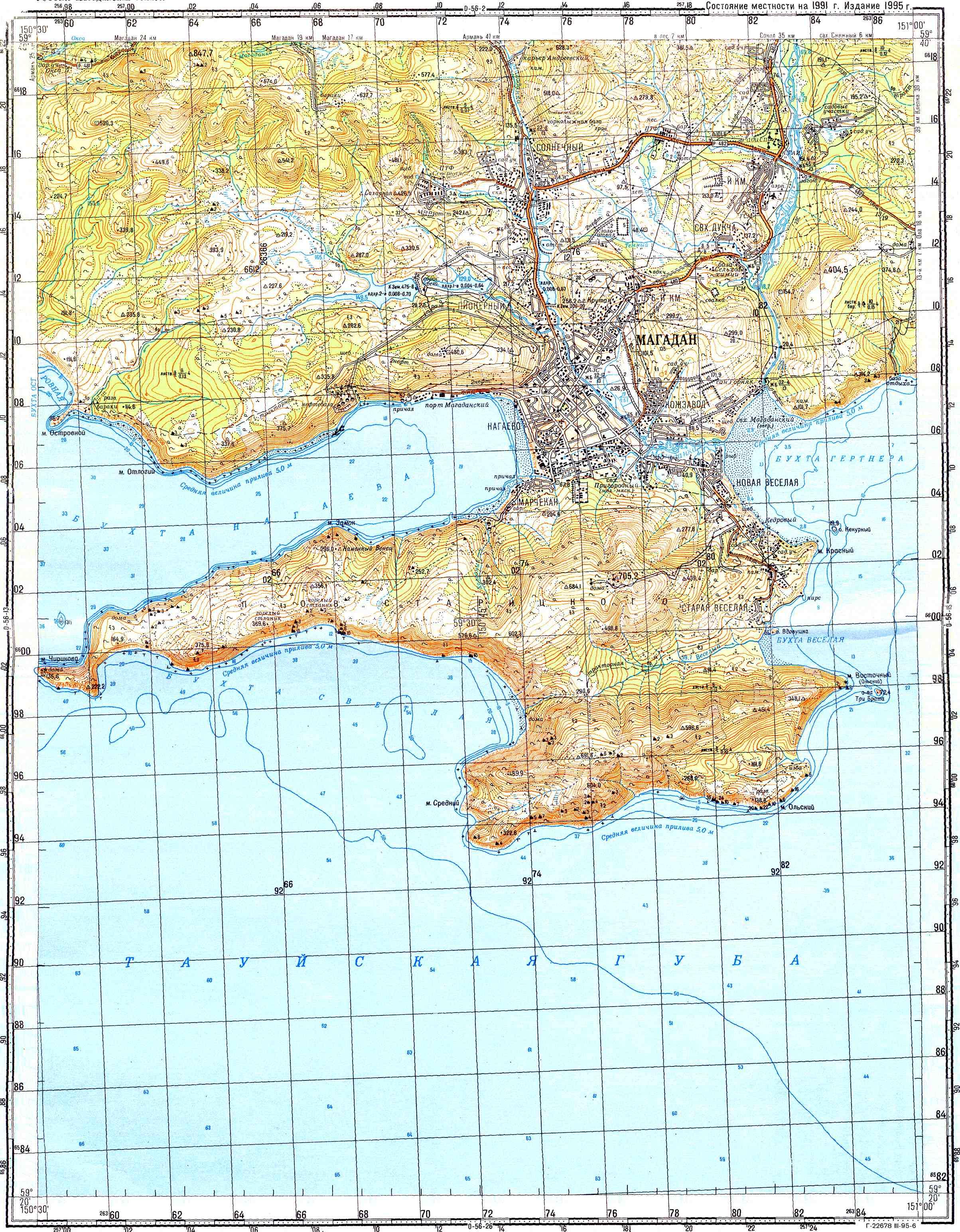 п-ов старецкого карта 10 км магаданская область