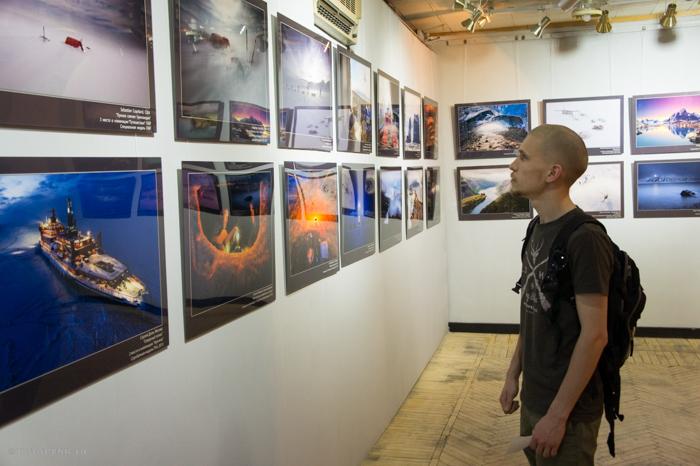 Фотограф Иван Кислов на выставке «Global Arctic Awards»