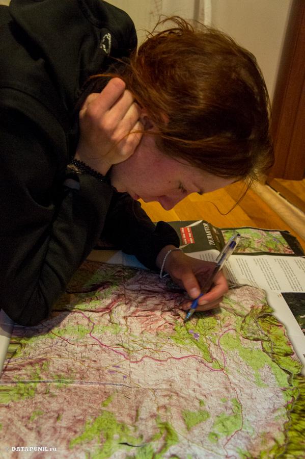 Ната и карта, часть 2.
