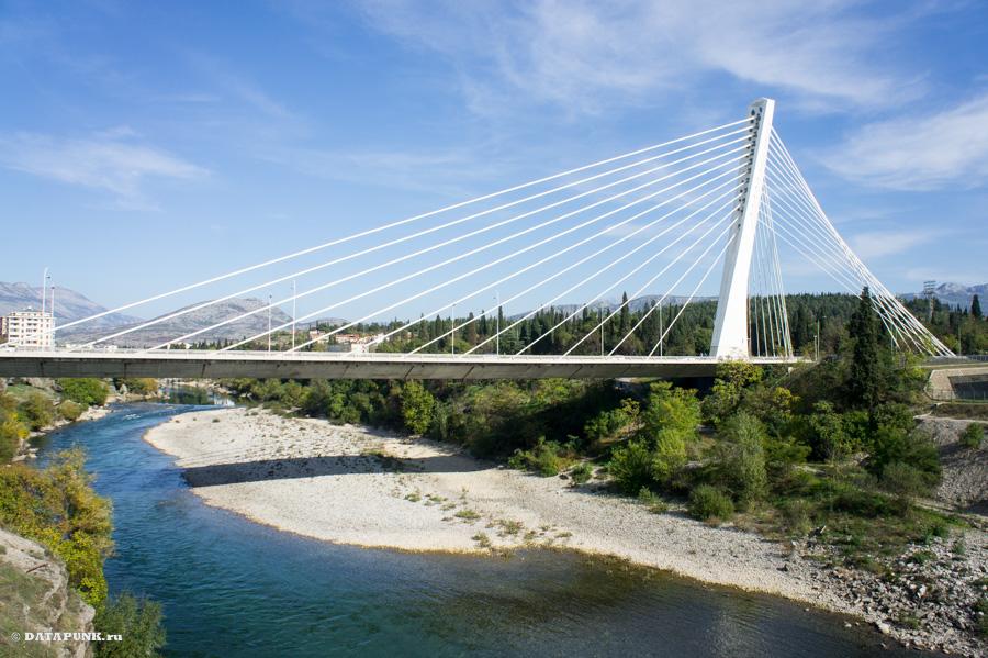 Мост в Подгорице, Черногория.