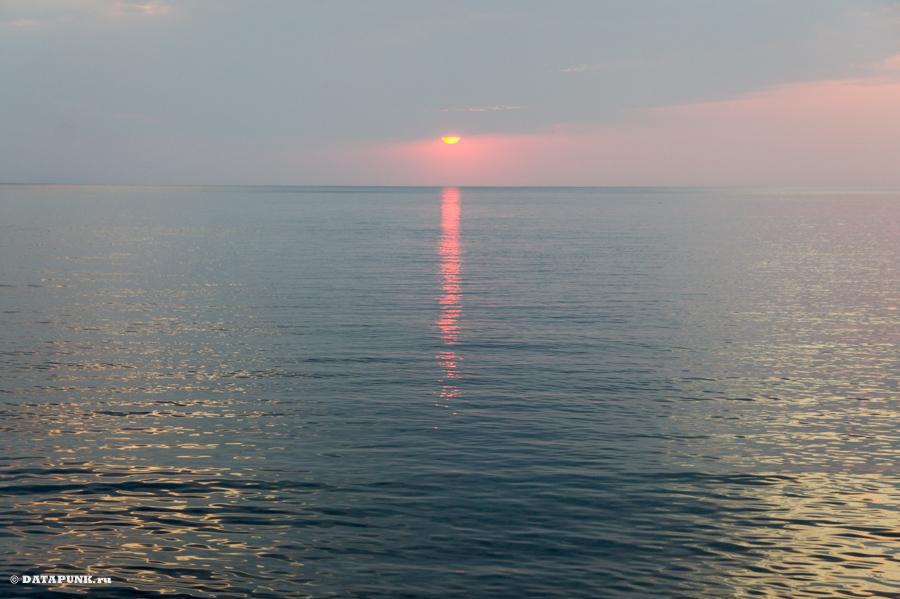 Закат на Черном море, Крым