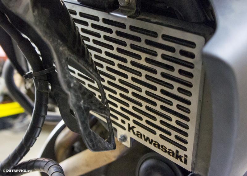 kawasaki versys 650 (KLE650) защита радиатора