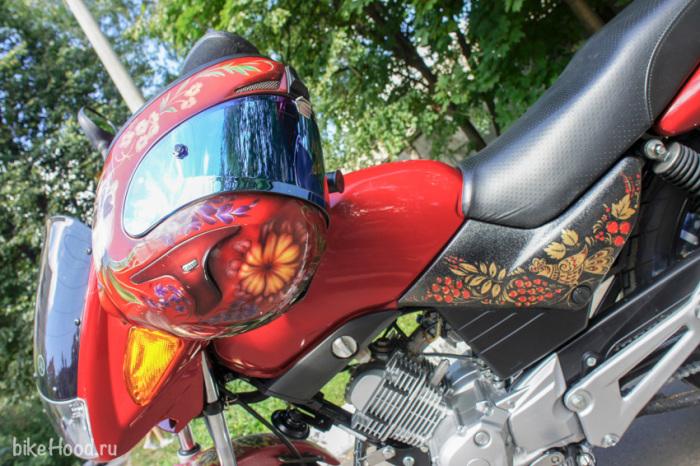 yamaha ybr125 перекрашеный красный