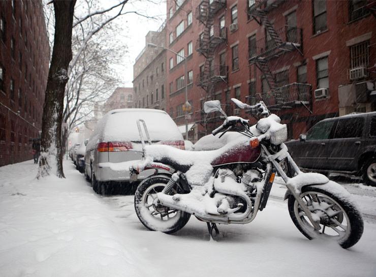 зимой хранить мотоцикл