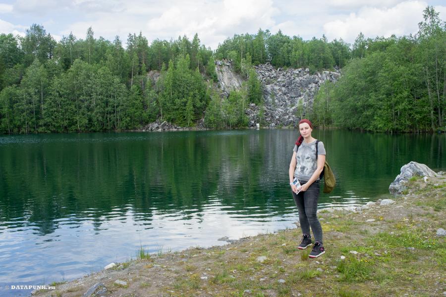 озеро рускеала горный парк